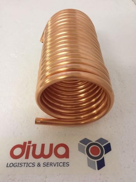 Spirale aus Kupferrohr 12x1mm weich aus 5m mit Ø ca. 13cm (Kupferrohrspirale)