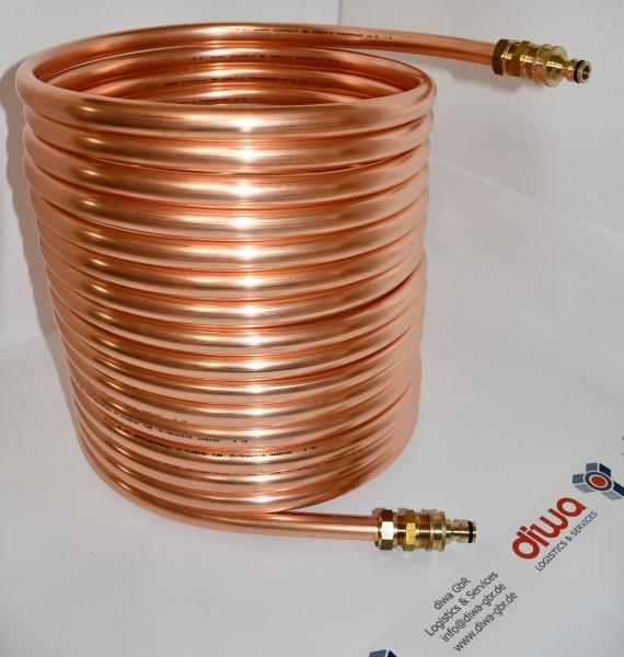 Spirale aus Kupferrohr 18x1mm aus 15m mit Außendurchmesser ca. 31cm Poolheizung mit ANSCHLUSS GARDEN