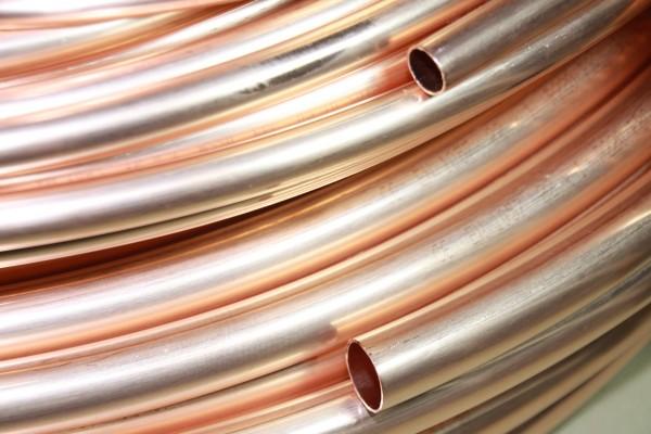 8x1mm Kupferrohr WEICH im RING (5m,10m,25m,50m) nach DIN-NORM EN1057 und DVGW Zertifikat