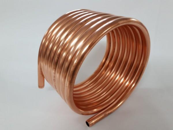 Spirale aus Kupferrohr 15x1mm weich aus 5m mit Ø ca. 21cm (Kupferrohrspirale)