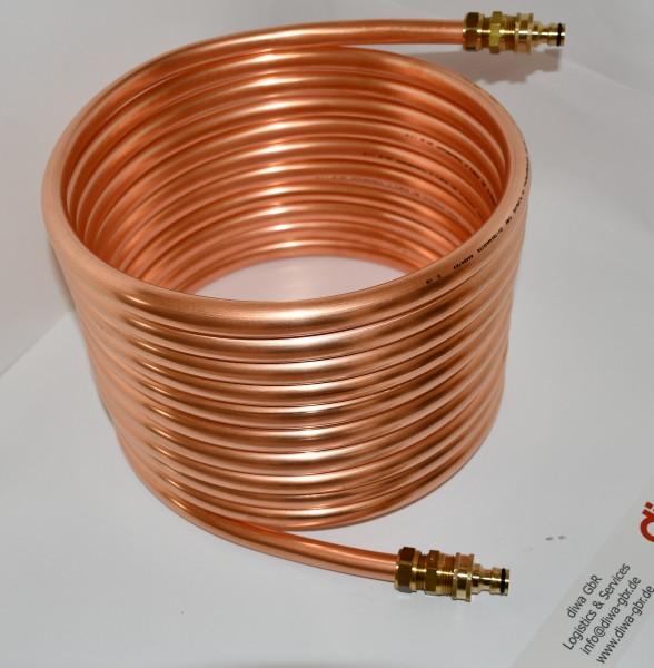 Spirale aus Kupferrohr 15x1mm aus 10m mit Außendurchmesser ca. 31cm Poolheizung mit ANSCHLUSS GARDEN