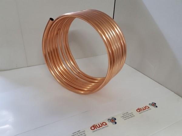 Spirale aus Kupferrohr 22x1mm aus 10m mit Außen-Ø ca. 45cm