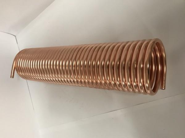 Spirale aus Kupferrohr 12x1mm weich aus 15m mit Ø ca. 13cm (Kupferrohrspirale)