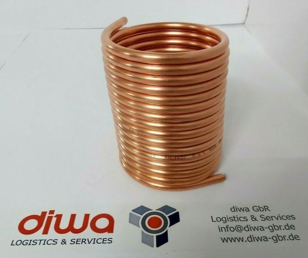 Spirale aus Kupferrohr 8x1mm aus 5m mit einem Außen-Ø von ca. 11cm (Kupferrohrspirale)