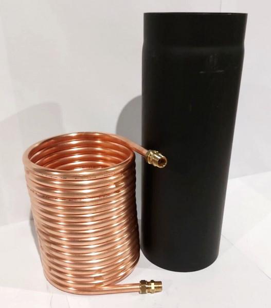 """Spirale aus Kupferrohr 15x1mm 15m Außendurchmesser ca.31cm Poolheizung 3/4"""" ANSCHLUSS"""