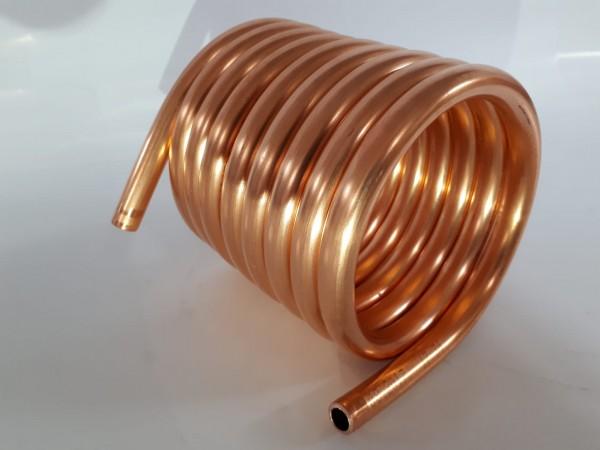 Spirale aus Kupferrohr 12x1mm weich aus 2,5m mit Ø ca. 11cm (Kupferrohrspirale)