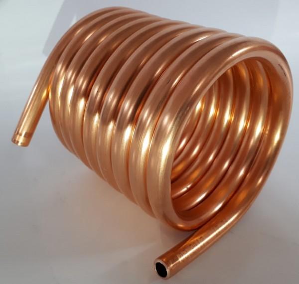 Spirale aus Kupferrohr 10x1mm aus 2,5m mit einem Innendurchmesser von ca. 80mm Wärmetauscher (Kupfe