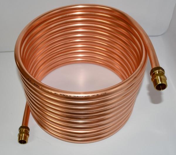 """Spirale aus Kupferrohr 15x1mm 10m Außendurchmesser ca.31cm Poolheizung 3/4"""" ANSCHLUSS"""