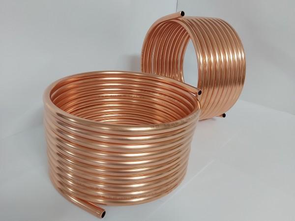 Spirale aus Kupferrohr 15x1mm weich aus 10m mit Außendurchmesser ca. 31cm (Kupferrohrspirale)