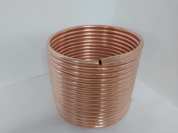Spirale aus Kupferrohr 18x1mm aus 15m mit Außen-Ø ca. 31cm (Kupferrohrspirale)